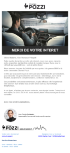 Exemple de mail envoyé par Marketing Automation