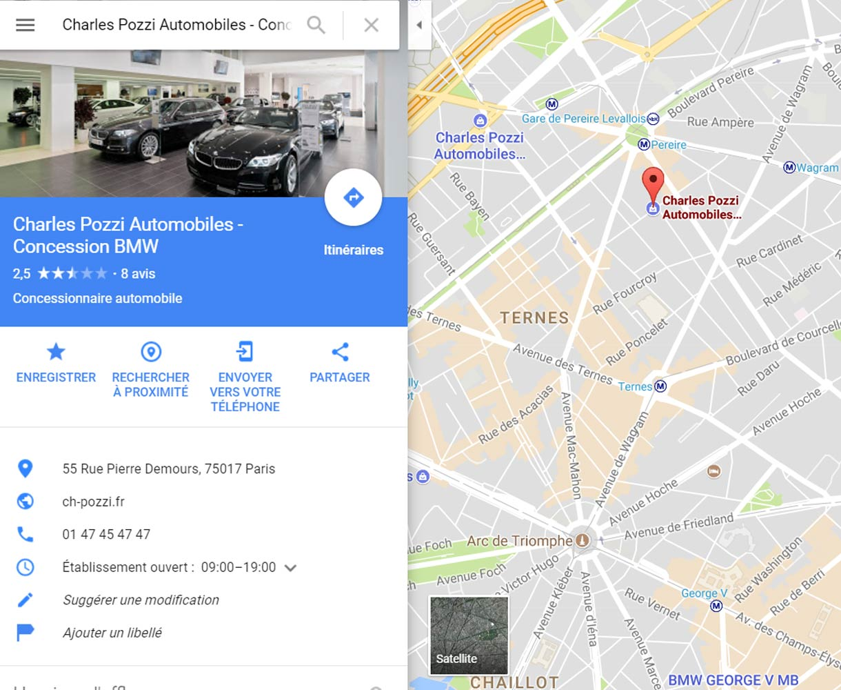 Présence digitale Google My Business - Concession Automobile