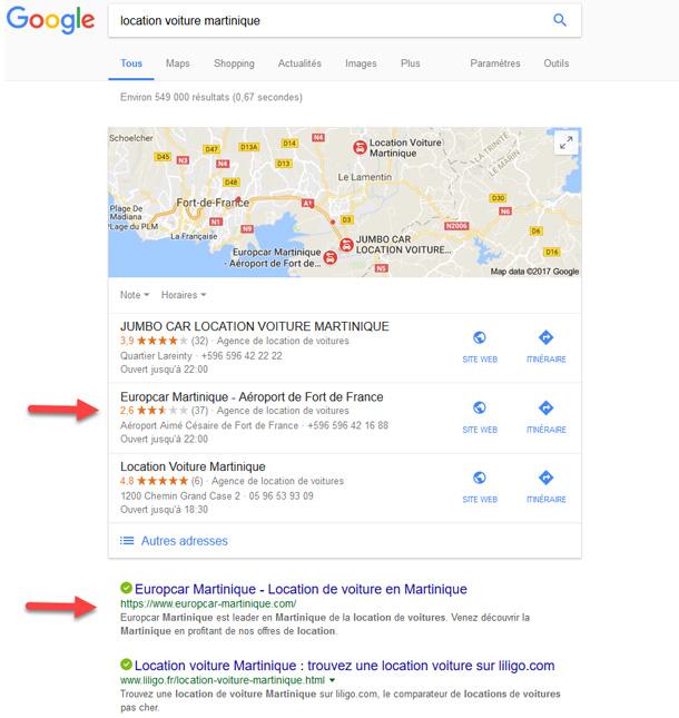 google location de voiture