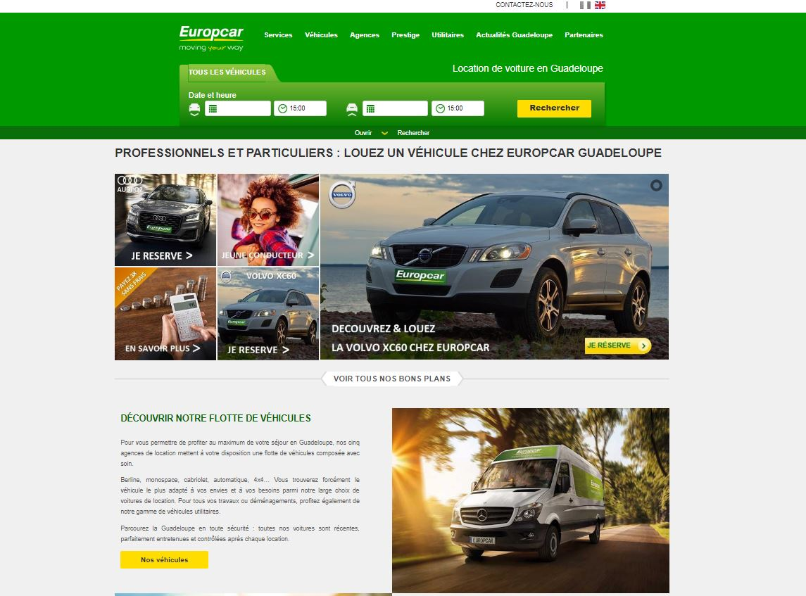 Optimisation des sites internet e-tourisme Europcar